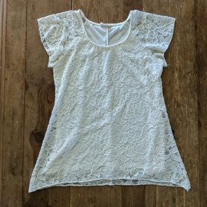 Tops - Off white lace flowy top